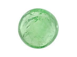 Garnet Mint Tsavorite Fluorescent 8mm Round Cabochon 1.50ct