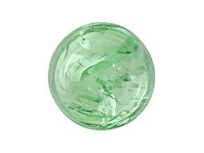 Garnet Mint Tsavorite Fluorescent 9mm Round Cabochon 5.00ct