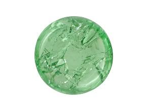 Garnet Mint Tsavorite Fluorescent 10mm Round Cabochon 6.00ct