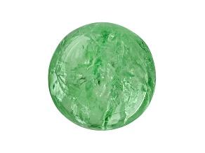 Garnet Mint Tsavorite Fluorescent 11mm Round Cabochon 9.23ct