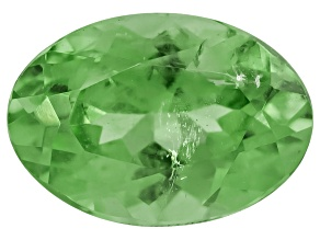 Mint Tsavorite Garnet-Fluorescent 6x4mm Oval .50ct