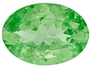Garnet Mint Tsavorite Fluorescent 7x5mm Oval .50ct