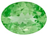 Garnet Mint Tsavorite Fluorescent 7x5mm Oval .50ct