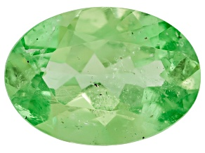 Mint Tsavorite Garnet-Fluorescent 7x5mm Oval .60ct