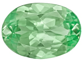 Garnet Mint Tsavorite Fluorescent 7x5mm Oval .71ct