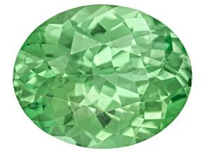 Garnet Mint Tsavorite Fluorescent 10x8mm Oval 2.77ct