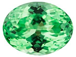 Garnet Mint Grossular Fluorescent 13.09x10.00mm Oval 7.14ct
