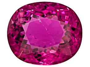 Tourmaline Rubellite 21.78x18.59mm Oval Portuguese Cut 34.11ct