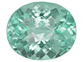 Paraiba Tourmaline 12.62x10.57mm Oval Checkerboard Cut 5.37ct