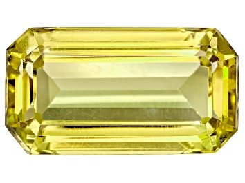 Picture of Yellow-Green Apatite Untreated 22.65x12.45mm Emerald Cut 24.15ct