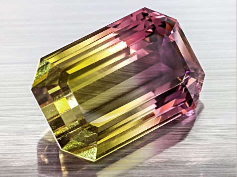 Bi-Color Tourmaline 17.29x11.31mm Emerald Cut 12.58ct