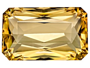 Tanzanian Strong Yellow Scapolite 26.25ct 22.97x14.24mm Rect Oct Scissor Cut W/ Gemworld Report