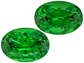 Garnet Tsavorite 9x6.2mm Oval Matched Pair 4.03ctw