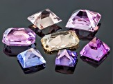 Multi-Color Sapphire Untreated Mixed Shape Set 5.48ctw