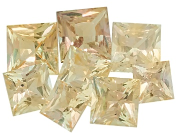 Picture of Yellow Sapphire Square Princess Cut Set 3.79ctw