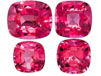 Picture of Pink Spinel Square Cushion Mixed Step Set 2.04ctw