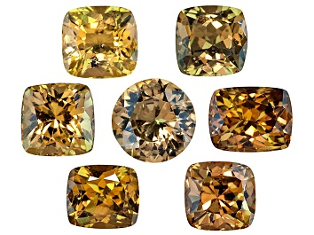 Picture of Yellow Sapphire Square And Rectangular Cushion Round Set 4.56ctw