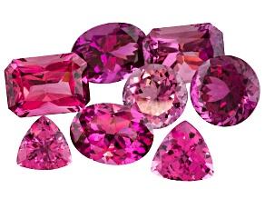 Set Of 8 Untreated Nigerian Pink Tourmaline 5.91ctw mm Varies Mixed Shape