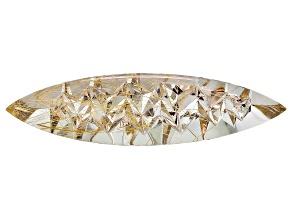 Sonja Kreis Brazilian Golden Rutilated Quartz 120.50ct 79.87x20.62x13.85mm Fancy Marquise Custom Cut