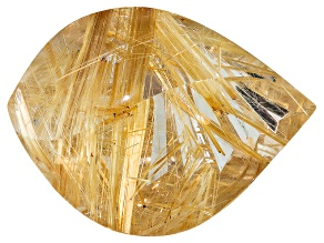 Sonja Kreis Brazilian Golden Rutilated Quartz 44.17ct 13.66x23.15x13.85mm Fancy Marquise Custom Cut