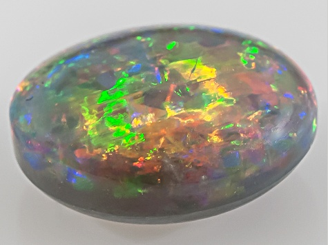 Black Opal 10x9mm Oval Cabochon 2.58ct
