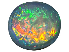 Black Opal 8.5x7.5mm Oval Cabochon 1.99ct