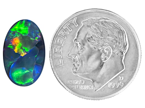 Black Opal 11.5x7mm Oval Cabochon 1.57ct