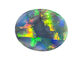 Picture of Black Opal 14.06x11.28ct Oval Cabochon 3.21ct