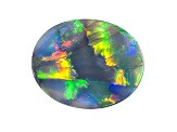 Black Opal 14.06x11.28ct Oval Cabochon 3.21ct