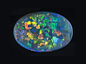 Black Opal 12.22x8.5mm Oval Cabochon 2.70ct