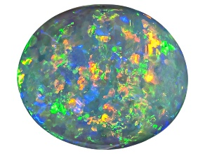 Black Opal 12.61x11.04mm Oval Cabochon 3.69ct