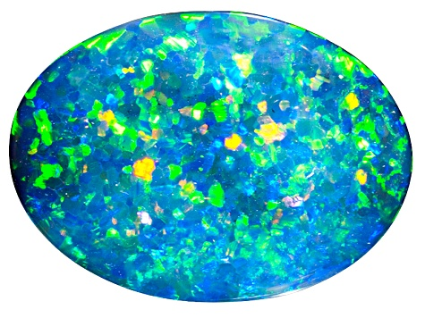 Black Opal 16.14x11.72mm Oval Cabochon 4.22ct