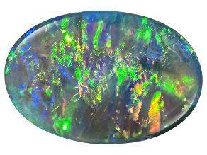 Black Opal 11.9x8.11mm Oval Cabochon 2.93ct