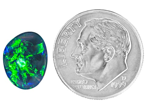 Black Opal 11.19x8.59mm Free Form Cabochon 2.60ct