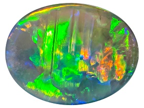 Black Opal 8.5x6.5mm Oval Cabochon 1.12ct