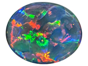 Black Opal 8x6.5mm Oval Cabochon 1.05ct