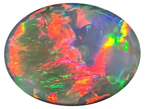 Black Opal 9.5x7mm Oval Cabochon 1.51ct