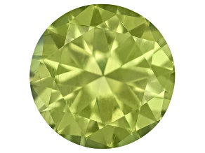 Pallasitic Peridot 4.4mm Round Brilliant Cut .30ct
