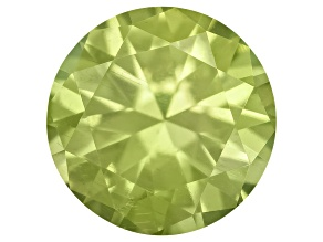 Pallasitic Peridot 4.3ct Round Brilliant Cut .28ct