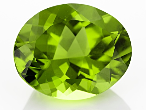 Peridot 13.3x11mm Oval 6.65ct