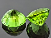 Peridot 11.72mm Round Mixed Step Cut Matched Set 15.18ctw