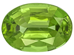 Peridot 14.44x10.11mm Oval Mixed Step Cut 6.04ct