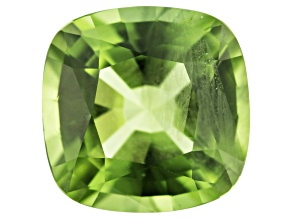 Peridot 11mm Square Cushion Mixed Step Cut 5.34ct