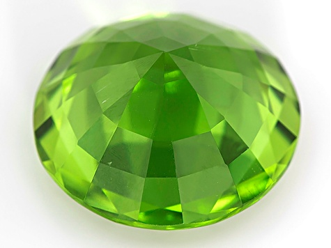 Peridot 14.5mm Round Mixed Step Cut 10.68ct