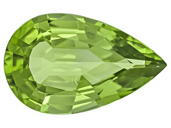Picture of Peridot 17.07x10.65mm Pear Shape Mixed Step Cut 6.77ct