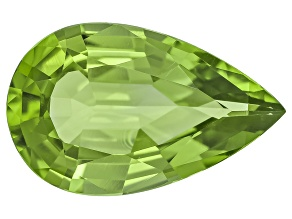 Peridot 17.07x10.65mm Pear Shape Mixed Step Cut 6.77ct