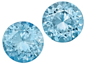 Aquamarine Untreated 13mm Round Matched Pair 12.76ctw