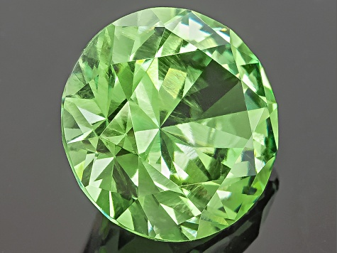 Garnet Demantoid With Horsetail 7mm Round 1.56ct