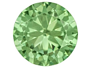 Garnet Demantoid With Horsetail inclusion 6.5mm Round 1.07ct