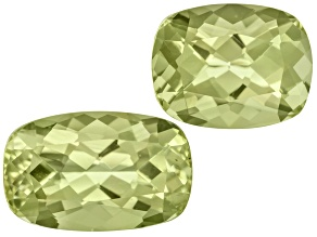 Green Apatite Rectangular Cushion Set 5.15ctw
